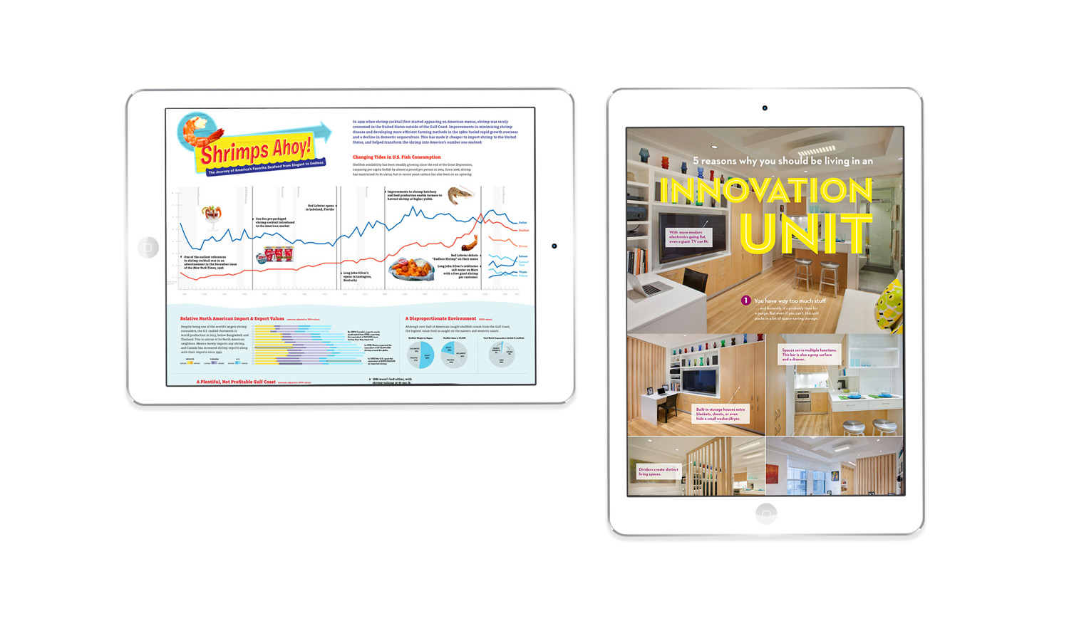 Hero image of two infographic screenshots on a tablet
