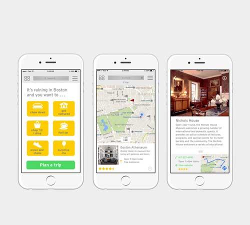 Three Instaplan app screens shown on a phone